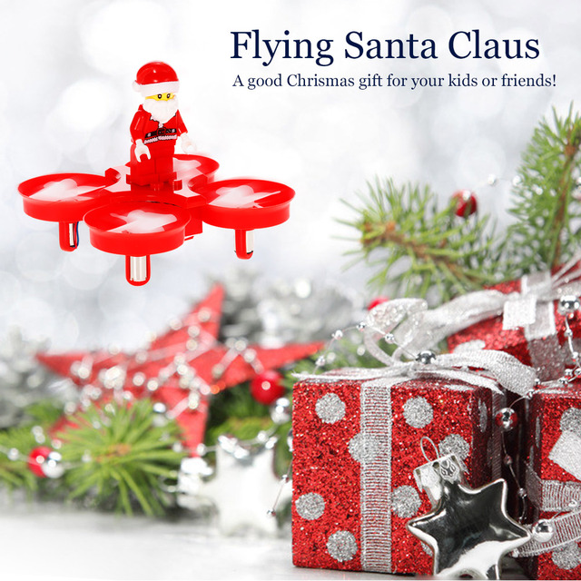 Original JJRC H67 2.4G 4CH Mini Drone Santa Claus Quadcopter Christmas Present Gift with Christmas Songs LED Music