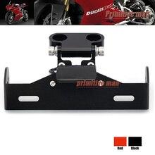 Para a DUCATI Hypermotard 939/821 Fender Eliminator Cauda Tidy Registro de Suporte da Placa de Licença LEVOU Luz Negra