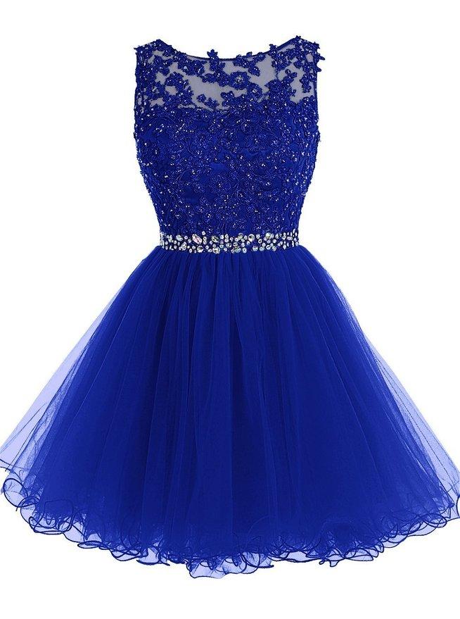 Vestidos de color azul cortos