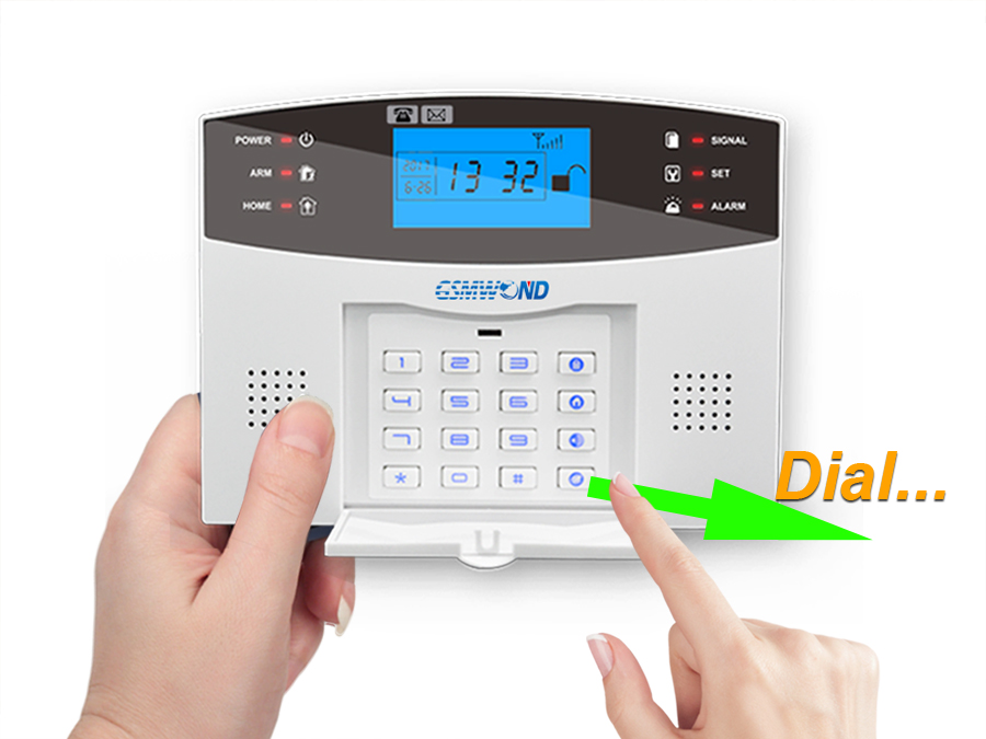 touch keyboard home security alarm system