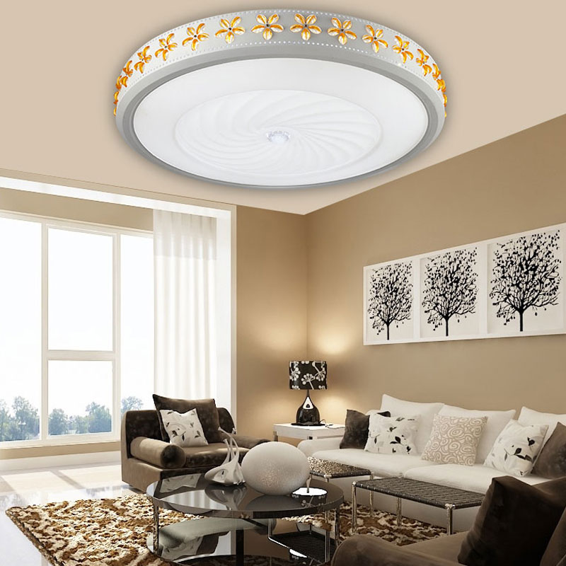Circular master Ceiling lamp bedroom lamp crystal living room warm romantic dining room electrodeless lamp Ceiling Lights ZA a1 master bedroom living room lamp crystal pendant lights dining room lamp european style dual use fashion pendant lamps