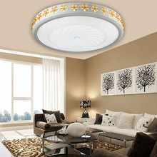Circular master Ceiling lamp bedroom lamp crystal living room warm romantic dining room electrodeless lamp Ceiling Lights ZA