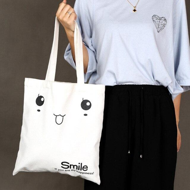 Arsmundi High-Quality Women Men Handbags Cotton Foldable Reusable Shopping Bag Rubbing Cart Eco Shoulder Organization Bag 6