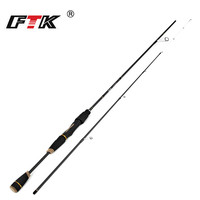 FTK 2 Section C.W UL H High Carbon Ultralight Spinning Fishing Rod 1.65 2.1 2.4 2.7m Lure Travel Rod Ultra Light Spinning Rod