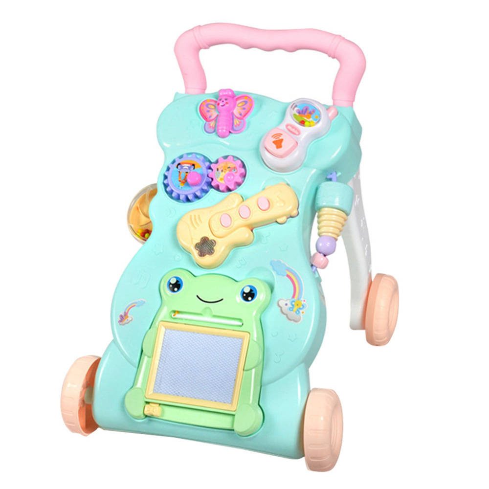 Multifunctional Baby Stroller Walker with Music Babies Learn to Walk and Stand Preventing Rollovers multifunctional baby stroller walker with music babies learn to walk and stand preventing rollovers