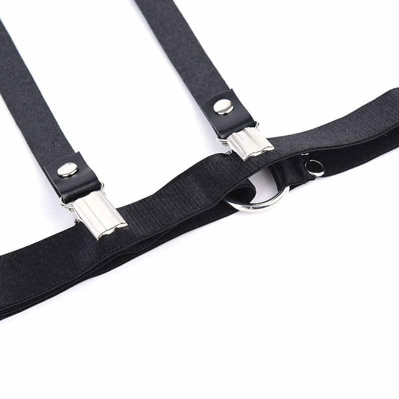 Sexy harajuku handmade punk Rock goth Bow garter thắt lưng vòng chân với 4 treo dây đeo và có thể tháo rời O-ring chân khai thác