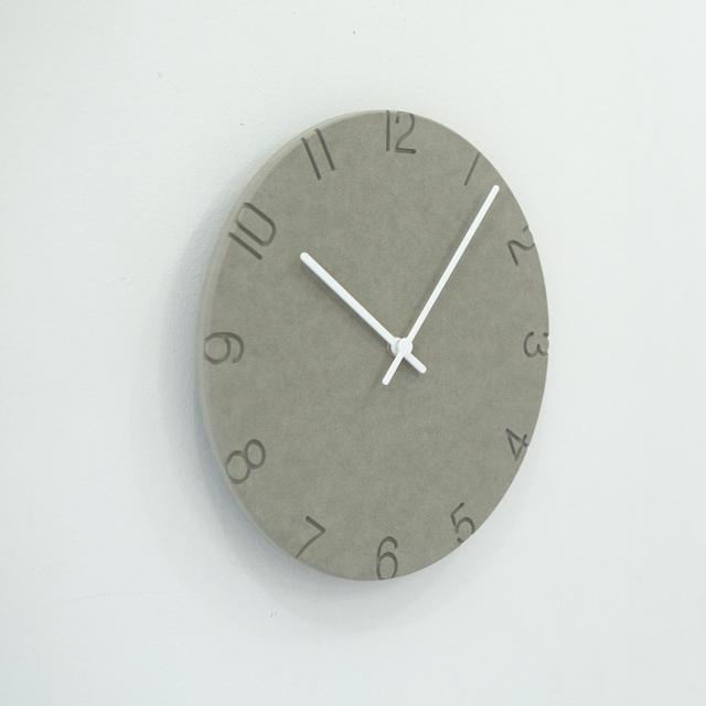 PINJEAS Sculpture Solid color Mute wall Clock Decorative 12 inch Wall Clock Handmade Wall Clock rustic clock decor Simple style
