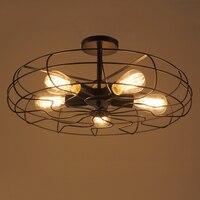 Винтажный Американский персонализированный барный счетчик Электрический вентилятор потолочный светильник