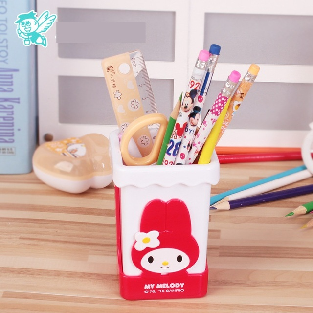 1pc ABS Cute Cartoon Hello Kitty Pen Organizer Quality Pen Holder Office  Supplies Good Gifts For