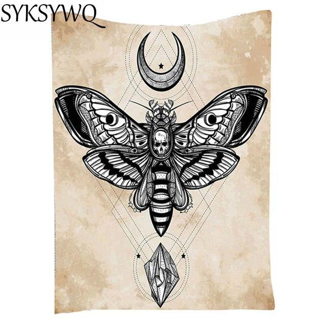 Mandala Tuch Punk Butterfly Tapestry Home Decor Moon Diamond Printed Wholesale Drop Shipping Wall Skull