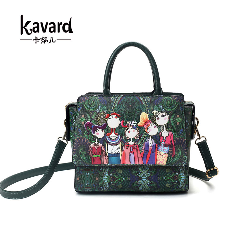 Famous brand kavard Forest green bags crossbody bag for Women Bag 2017 Designer Handbag lady hand bag Sac a main femme de marque