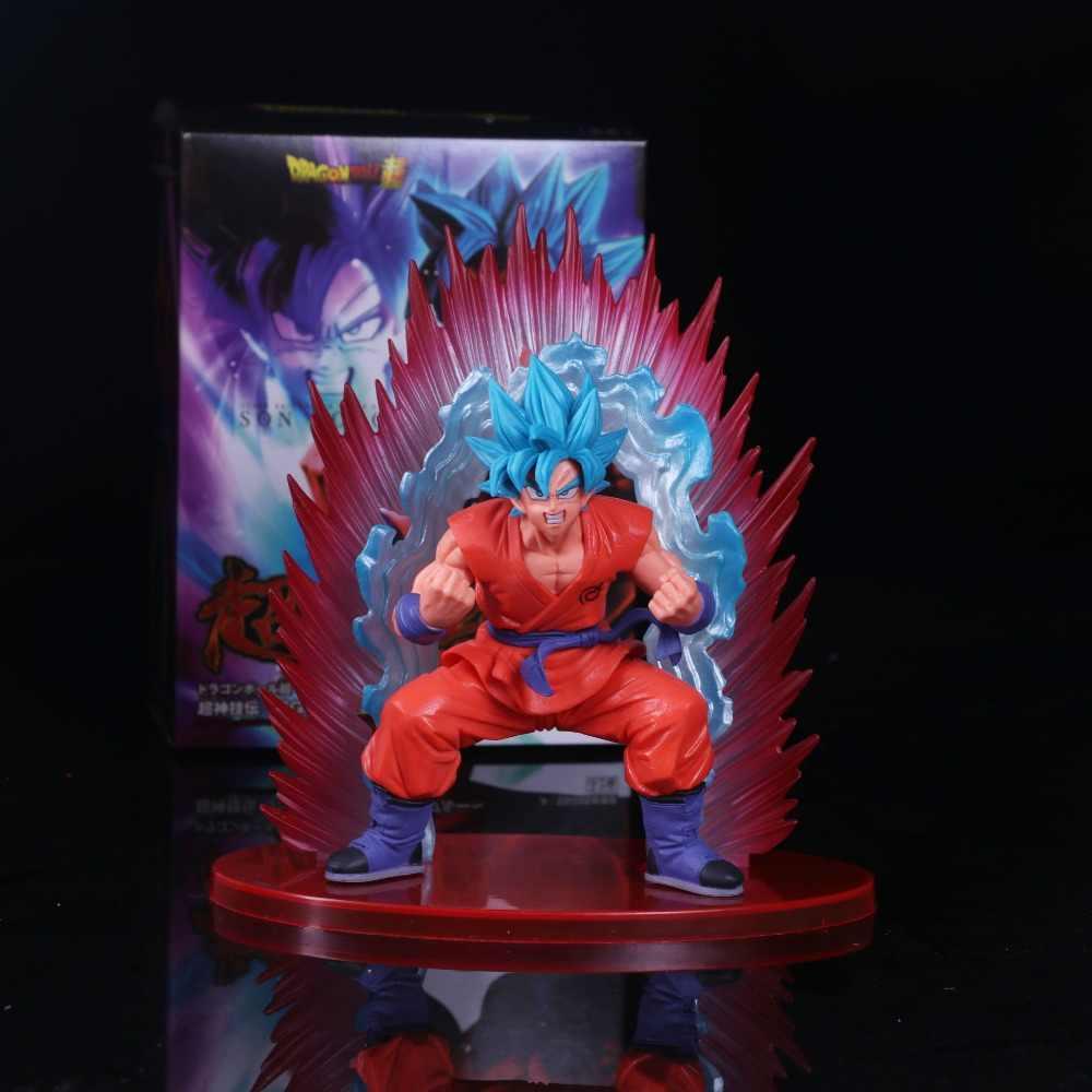 Anime Dragon Ball Z Ressurreição F 20 Super Saiyan Deus SS Son Goku PVC action Figure modelo de Brinquedo caçoa o presente