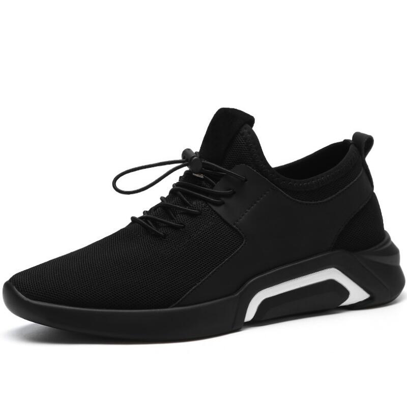 Men's Casual Shoes Aike Asia New Flying Woven Breathable Black Mens Casual Shoes Fashion Coconut Shoes Brand Design Low To Help Mesh Shoes Zapatos Beautiful In Colour Shoes