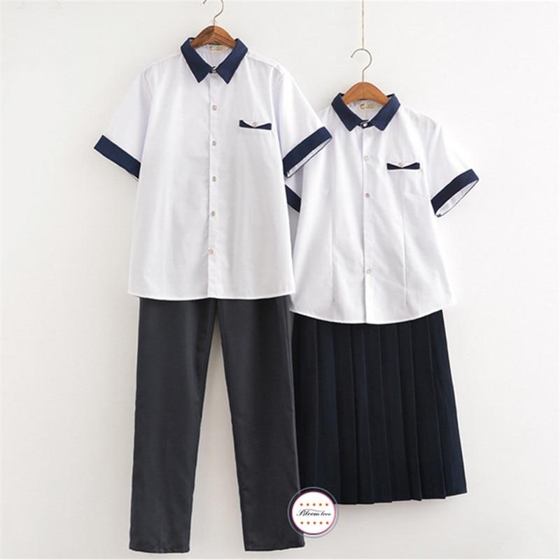 Kore Okul Üniforma Set Mezuniyet Sahne Performansı Kıyafeti Öğrenciler Okul Üniformaları OY-X0629