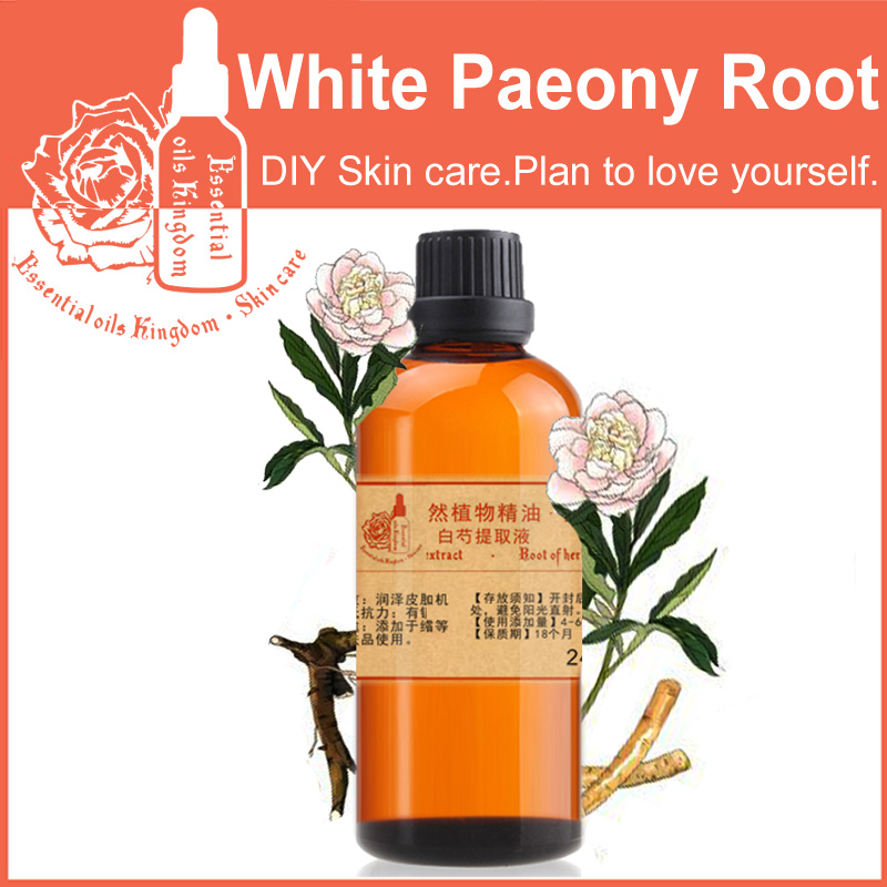 Free shopping 100% plant material extracts White Paeony Root extract repair 100ml moisturizing whitening skin care valerian root extract 500mg 50 capsules free shipping