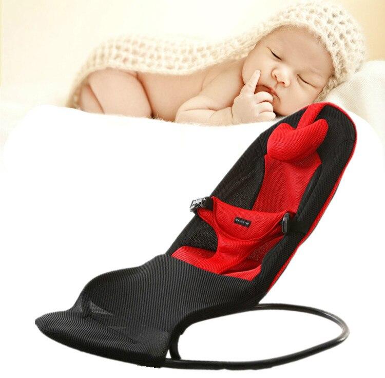 Высокое качество Детские Колыбели без электрическая кресло-качалка для младенцев свет Вес детские качели мягкая баланс Тип детские кроват...