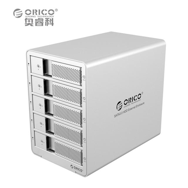 ORICO 9558U3-SV 5-bay 3.5'' USB3.0 ESATA  HDD Enclosure HDD Docking Station Case for Laptop PC (Silver)
