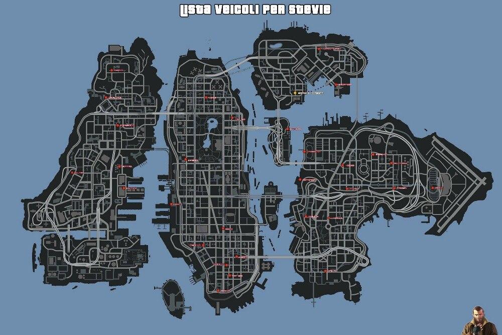 GTA 5 Lista Veicoli per stevie manifesti sulla mappa segreta parete HD topografica mappa Grand Theft Auto V strategica