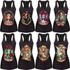 New women summer 3d vests The Little Mermaid vest Ariel Sailor Moon Cartoon print camisole Sexy fashion punk tank tops