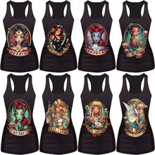 Neue frauen sommer 3d westen Die Kleine Meerjungfrau weste Ariel Sailor Moon Cartoon print camisole Sexy mode punk tank tops(China)
