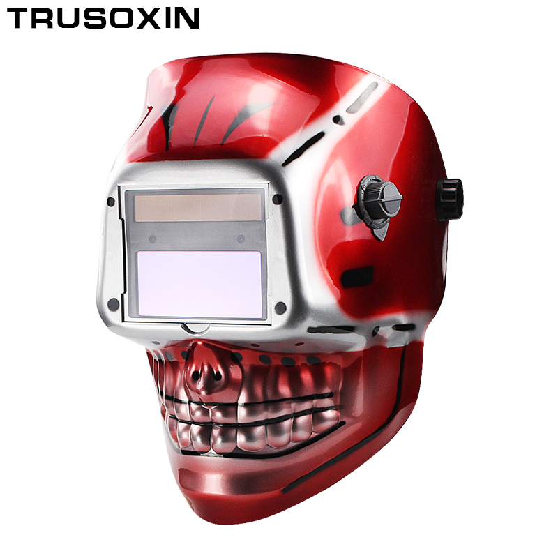 NEW Skull Solar Auto Darking/Shading Grind/Polish TIG MIG MAG ARC Welder Mask/Welding Helmet/Welder Glasses welder helmet mag tig grinding function polished chrome for free post
