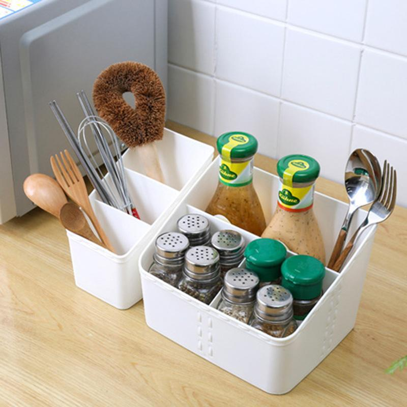 Fashion Multi-grid Plastic Makeup Storage Box Cosmetic Shelves Storage Case Home Desktop Organizer