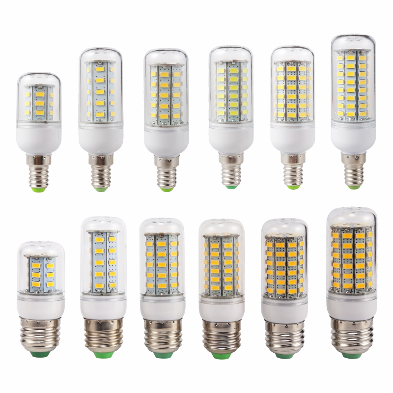 LED Lamp E27 Lampada LED Bulb E14 SMD5730 220V Corn Bulb 24 36 48 56 69 72LEDs Chandelie ...