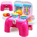 Hot Girls Kitchen Set Toys For Children Kitchen Set Pretend Play Toys Kids Cooking Toys Tableware Toys TY80