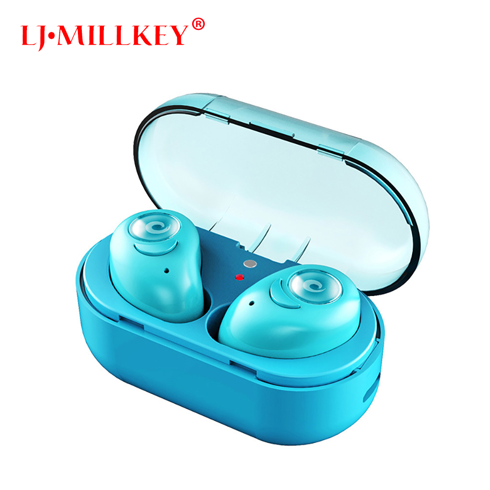 TWS earbuds mini wireless earphones bluetooth earphone earbuds built in mic with charging dock for phone LJ-MILLKEY YZ126 huiniu wireless earphone mini bluetooth in ear earbuds handsets head phone with battery dock microphone for iphone xiaomi phone