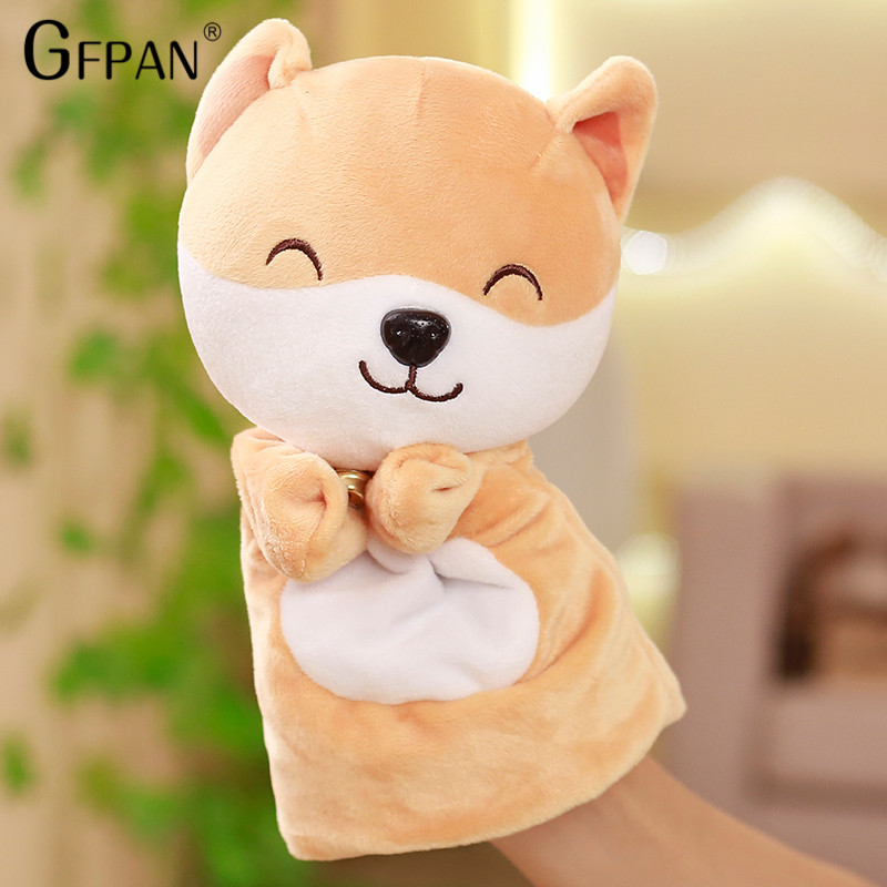 1pcs New Style Kawaii Fat Shiba inu Couple puppets Hot Sale Lovely Cartoon Figure Soft PP cotton Funny Doll Baby Toy For Kids