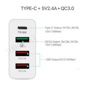 Image 5 - 48W di CONTROLLO di qualità 3.0 Caricabatterie Rapido 3.0 PD Tipo C USB Caricatore Della Parete Caricabatterie per il Samsung iPhone Huawei Tablet Veloce US EU UK AU Spina di Adattatore