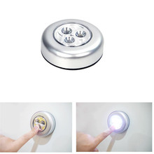 Touch LED Night Light Battery Powered Wireless Emergency Lights Sticker Led Book Lamp For Home Pathway