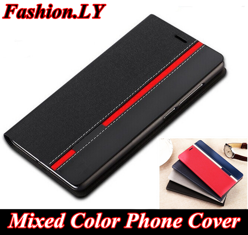 Fashion Mixed color Phone cover wallet Stand Card slot leaths