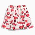 Летние фрукты мини детская одежда танца юбка детская рождественские костюмы красный пачка рубашки малышей одежда