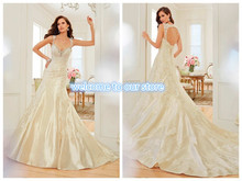 2019 Silver Taffeta Wedding Dresses Sleeveless Open Back Lace up Sweep Train Backless A Line Bridal Gowns Y11551 Swan david silver a slow train coming