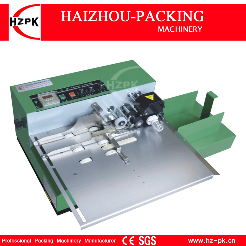 HZPK Wide Type Solid Ink Roller Coding Machine Code Printing Machine Iron Shell Printer Food Bag Box Packing Machine MY-380F/W zonesun my 380 ink roll coding machine card printer produce date printing machine solid ink code printer painting type 220v