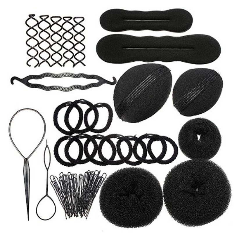 1PC New Elastic Clamping Hairstyle Entrainment Tied Hair Weaving Hairstyle X8212 5Up