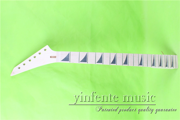 JKX-0083#  left  25.5 Electric guitar neck   Bolt on  maple    fingerboard fine quality  22 fret what she left