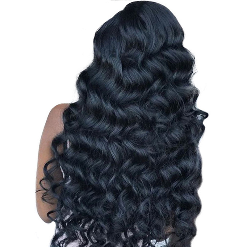 Loose Wave Lace Front Human Hair Wigs For Women Black 180% Density Brazilian Lace Front Wig 13X4 Part Lace Wigs Prosa Remy