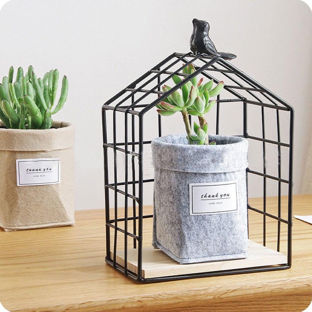 HTB1CRS2XOnrK1Rjy1Xcxh5eDVXaw - Plant Grow Bag New Home Decorations Desktop Flower Basket Fleshy Pot