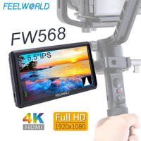 Feelworld FW568 5.5 IPS On Camera Field Monitor FHD 1920x1080 4K HDMI Input for DSLR Sony Canon Nikon Cameras with L Bracket