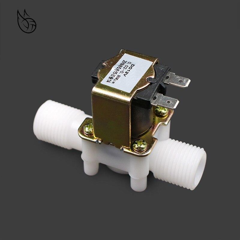 Sanitär Temperamentvoll 1/2 kunststoff Magnetventil 12 V 24 V 220 V Magnetische Waschmaschine Dispenser Trinken Wasser Pneumatische Druck Controller Schalter