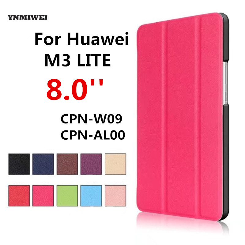 Tablet Case For Huawei Mediapad M3 Lite 8 Auto Sleep Stand Ultra Slim Flip Cover For M3 Youth Edition BAH-W09 AL00 Leather Case ultra slim magnetic stand leather case cover for huawei mediapad m3 lite 8 0 cpn w09 cpn al00 8tablet case with auto sleep
