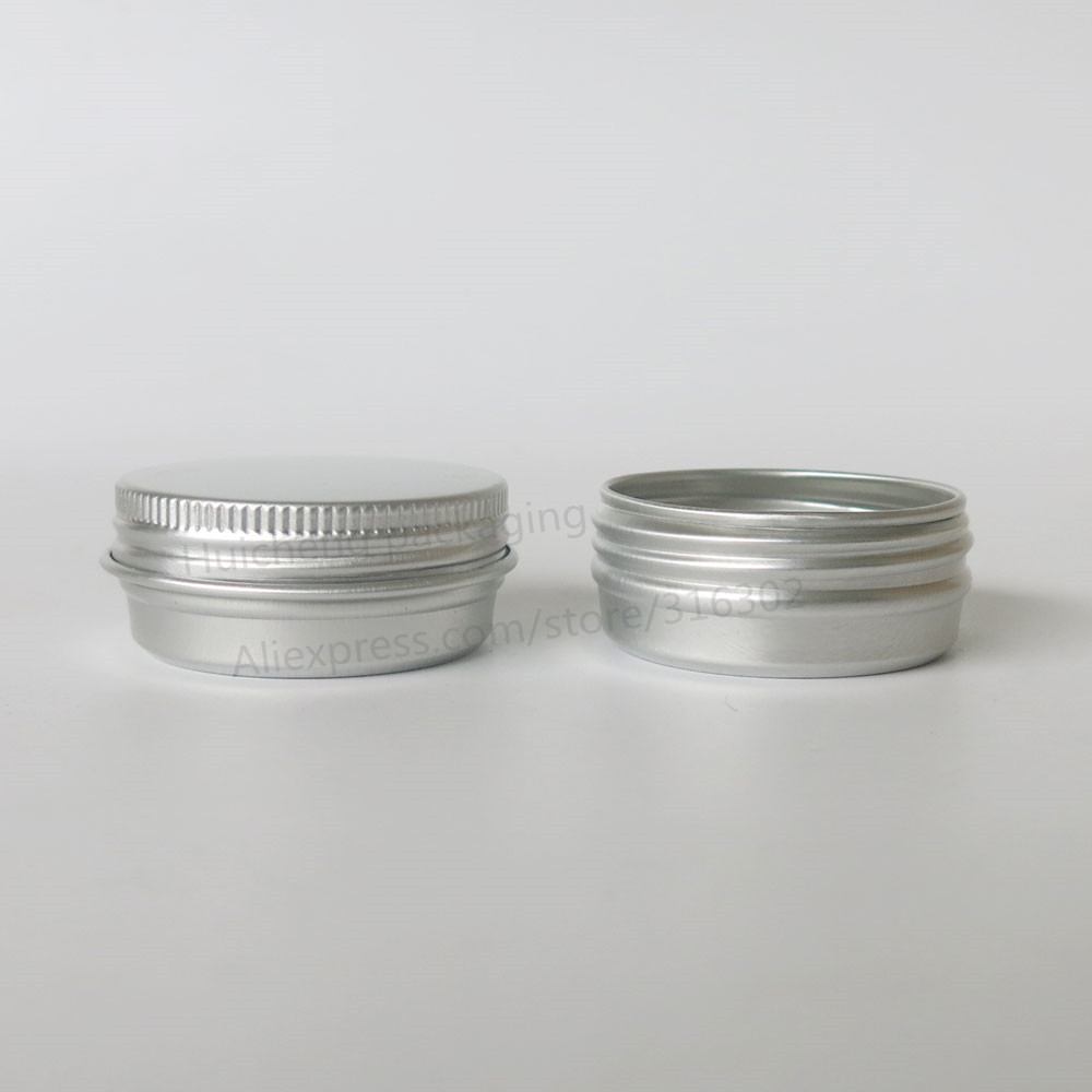 Купить с кэшбэком 100 x 10G Aluminum Jar Tin Pots 10cc Metal Cosmetic Packaging Container 1/3oz professional cosmetics container