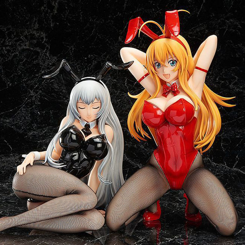 Free Shipping Sexy Ikkitousen Anime Sonsaku Hakuu & Choun Shiryuu Bunny Ver. Boxed PVC Action Figure Model Doll Toys Gift free shipping 7 anime super sonico with macaroon tower boxed 17cm pvc action figure collection model doll toy gift
