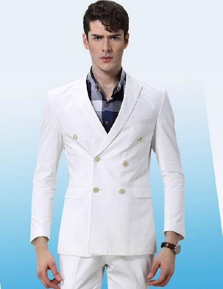 2017 Custom Made tuxedo jacket men dress wear to wedding White ...