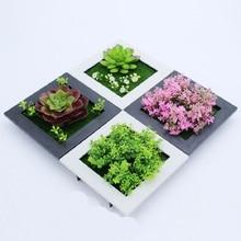 3D стикеры для растений на стену, домашний декор, настенные искусственные цветы, рамка, искусственные растения, настенная роспись, украшение для гостиной/свадьбы