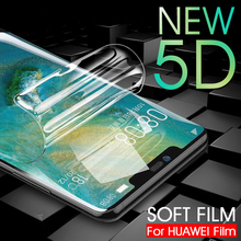 5D Soft Hydrogel Protective Film For Huawei Mate 20 Pro P30 P20 Pro Lite Full Cover Screen Protector Film For Honor 8X Max 10 9 full protective hydrogel film for huawei p20 lite p20 pro mate 20 lite cover screen protector honor 8x max v10 note 10 nova 3 i