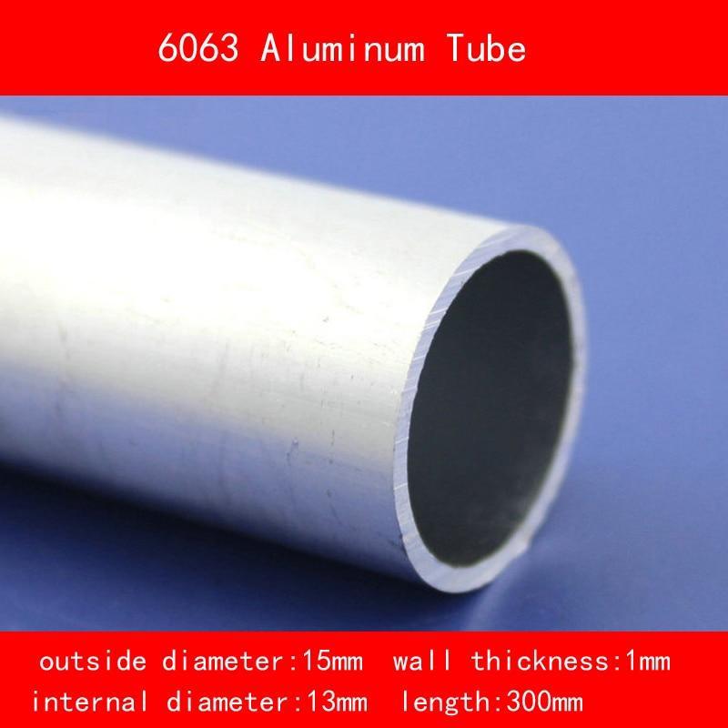 external diameter 15mm internal diameter 13mm wall thickness 1mm Length 300mm 6063 Aluminium Tube AL Pipe DIY Material