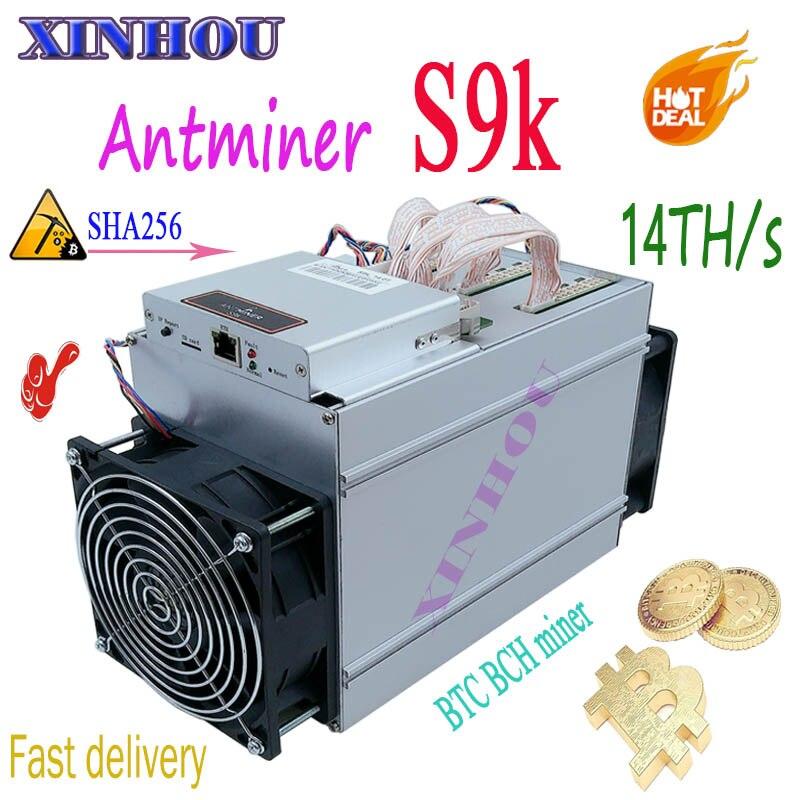 NEW BTC BCH Minatore AntMiner S9K 14TH/s SHA256 7nm Asic Meglio di S9 T9 Z9 Z11 S17 T15 t17 T3 A9 WhatsMiner M3 M3X Ebit E9i E10
